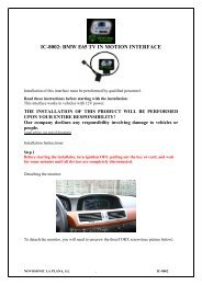 IC-8002: BMW E65 TV IN MOTION INTERFACE - Novosonic