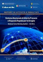 Sistema Nazionale di Allerta Precoce - Dipartimento per le politiche ...