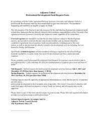Adjuncts United Professional Development Fund Request Form
