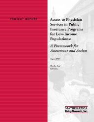Access to Physician Services in Public Insurance Programs for Low ...