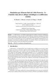 Simulation par éléments finis de l'effet Portevin - Le ... - Giens 2009