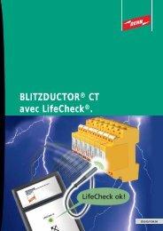 BLITZDUCTOR® CT avec LifeCheck®.