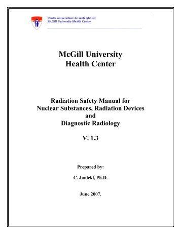 radiation - McGill Medical Physics Unit - McGill University
