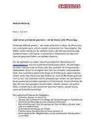 lesen - Swisslos