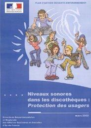 Niveaux sonores dans les discothèques : Protection des usagers ...