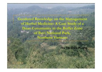 Gendered Knowledge on the Management of Herbal Medicine - RCSD