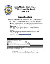 Santa Monica High School Viking Marching Band 2009-2010