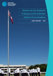 Review into the treatment of women at the Australian Defence Force ...