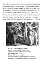 In jener Zeit sagten die Schriftgelehrten zu Jesus ... - Pfarre Podersdorf