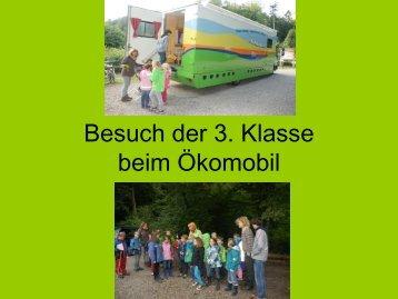Besuch der 3. Klasse beim Ökomobil - Paula Fürst Schule