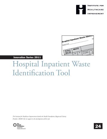 Hospital Inpatient Waste Identification Tool