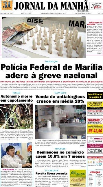 Polícia Federal de Marília adere à greve nacional - Jornal da Manhã