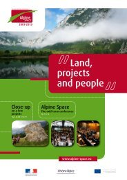 Land, projects and people - Alpine Space Programme