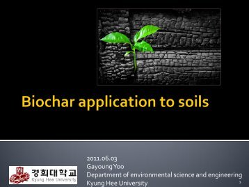 Biochar application to soils
