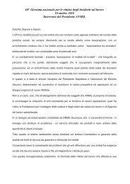60ª Giornata nazionale per le vittime degli incidenti sul ... - Anmil