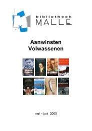 Aanwinsten Volwassenen - Gemeente Malle
