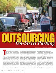 Outsourcing On-Street Parking - International Parking Institute
