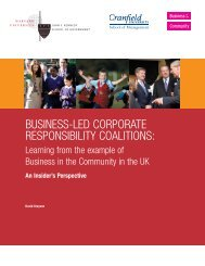 Business-Led Corporate Responsibility Coalitions - Harvard ...