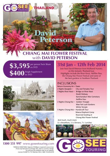 david peterson 1300 551 997 - Go See Touring