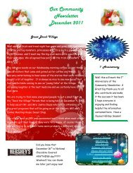Our Community Newsletter December 2011 - Town of Belmont
