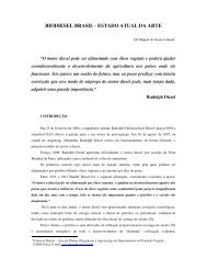 BIODIESEL BRASIL - ESTADO ATUAL DA ARTE - CIB