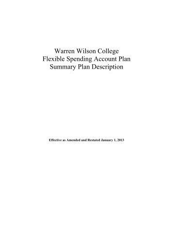 Section 125 Cafeteria Plan - Warren Wilson College