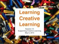 Supporting Creative Learning - MIT