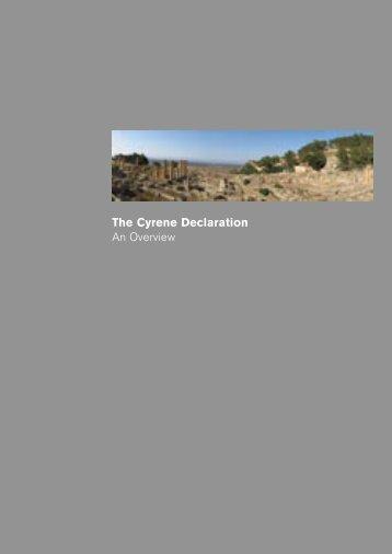 The Cyrene Declaration An Overview - Dezeen