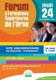 Plaquette du forum - Alençon