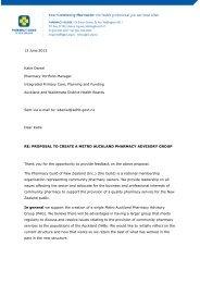 2013 06 13 Feedback on Auckland metro Pharmacy Advisory Group ...