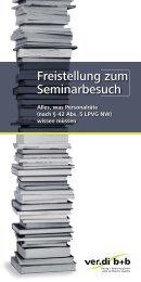 Freistellung zum Seminarbesuch - Alles, was Personalräte - ver.di b+b