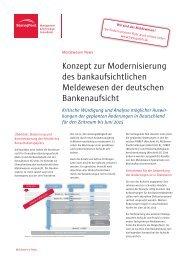 Konzept zur Modernisierung des bankaufsichtlichen Meldewesen ...