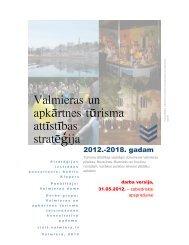 Valmieras un apkārtnes tūrisma attīstības stratēģija
