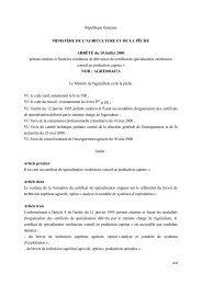 République française MINISTÈRE DE L'AGRICULTURE ... - ChloroFil