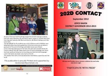 September Contact 2012 - Lions Clubs New Zealand