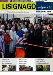 DICEMBRE 2012 - Comune di Lisignago