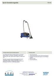 Produktdatenblatt mit Vergleichs- und Zubehörtabellen. - Robe ...