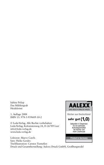 Sabine Prilop Das Mühlengrab Heidekrimi 1. Auflage 2008 ISBN 13 ...