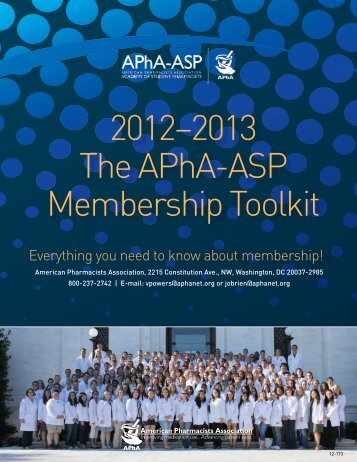 2012–2013 The APhA-ASP Membership Toolkit - American ...