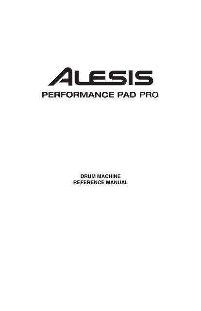 PerformancePad Pro - Reference Manual - RevA
