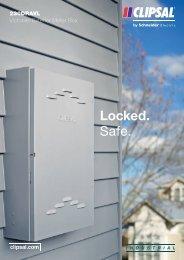 230DRAVL Victorian Exterior Meter Box - Locked. Safe ... - Clipsal