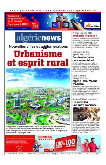 Fr-31-07-2013 - Algérie news quotidien national d'information