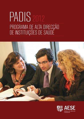 programa de alta direcção de instituições de saúde - AESE