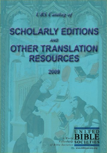 scholarly editions other translation resources ... - UBS Translations