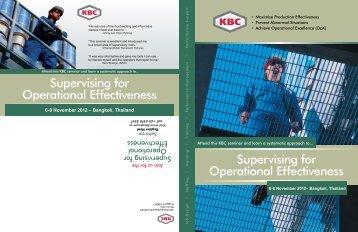 6-8 November 2012 – Bangkok, Thailand - KBC