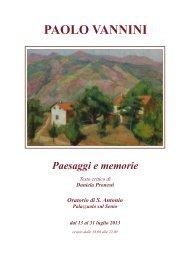 catalogo vannini (File pdf - 202KB) - Comune di Palazzuolo sul Senio