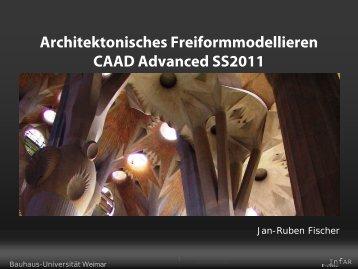 Rhino Modeling Methoden - InfAR - Bauhaus-Universität Weimar