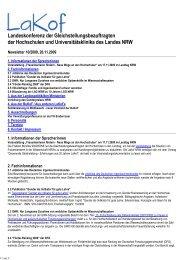 Newsletter Nr. 10/2009 - LaKof NRW