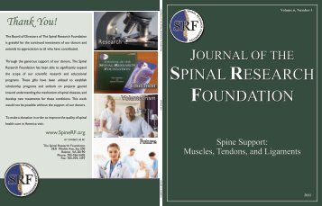 Click to Read the Spring 2011 Journal - Spinal Research Foundation