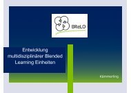 Entwicklung multidisziplinärer Blended Learning Einheiten - Stud.IP